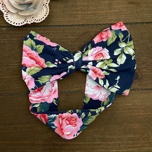 Floral baby bow headband NWOT